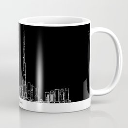 Dubai Skyline - Black Base Coffee Mug