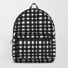Black Gingham Backpack