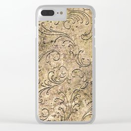 Vintage Damask 17416 Clear iPhone Case