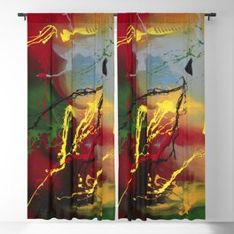 Planet Flow - Colorful abstract painting by Rasko Blackout Curtain