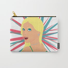 Portrait of a Surprised Blonde Carry-All Pouch