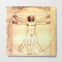 Da Vinci Vitruvio Metal Print