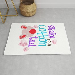Shake Your Bunny Cotton Tail Rug