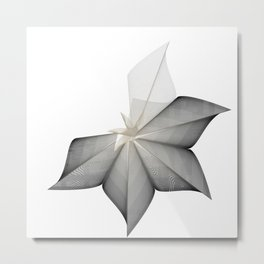 grey flower Metal Print