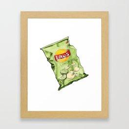 Lime Flavoured Chips Framed Art Print