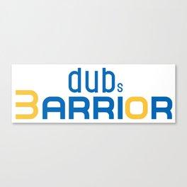 Golden State Warrior Curry design  Canvas Print
