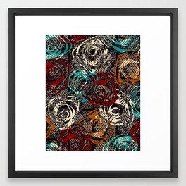 Abstract flower Framed Art Print