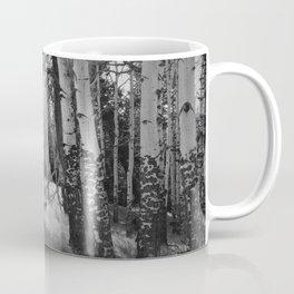 Aspens in Black and White Coffee Mug