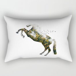 Forest Horse XIX Rectangular Pillow