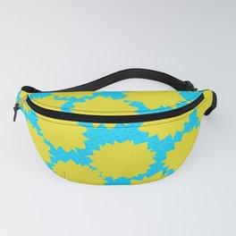 Pop Art Starburst // Yellow & Turquoise Fanny Pack