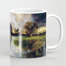 River Landscape, Amagansett, Long Island, New York pastoral by Thomas Mann Coffee Mug