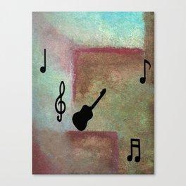 Abstract Guitar Art Canvas Print
