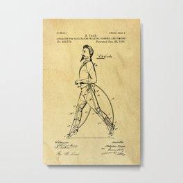 Old Patent Drawing Metal Print