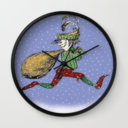 Merry Old Elf in Tights Wall Clock