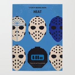 No621 My Heat minimal movie poster Poster