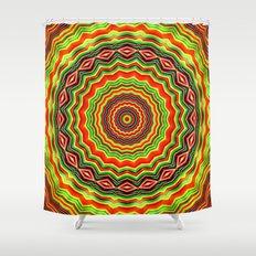 Trippy mandala  Shower Curtain