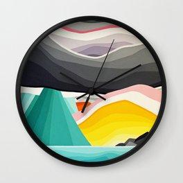 Coast Rain Wall Clock