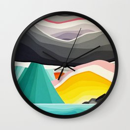 Coast Rain Wall Clock