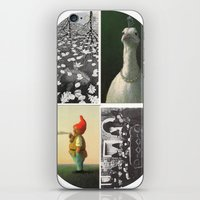 postcard iPhone & iPod Skins featuring Postcard Collage by wetravelasequals
