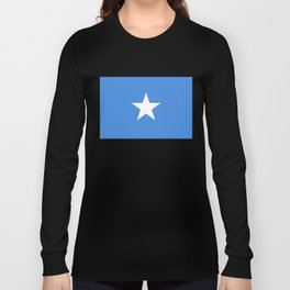 Somalian national flag - Authentic color and scale (high quality file) Long Sleeve T-shirt