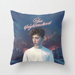 Blue Neighbourhood Throw Pillow