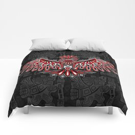 Eagle Tattoo Style Haida Art Comforters