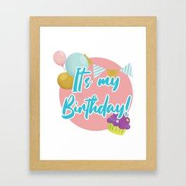 Fun Birthday Party Gift It's My Birthday Gift Framed Art Print