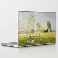 monet Laptop & iPad Skins featuring Summer by Claude Monet by Palazzo Art Gallery