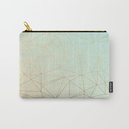 Pastel Geometric Minimalist Pattern Carry-All Pouch