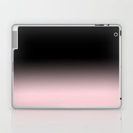 Modern abstract elegant black blush pink gradient pattern Laptop & iPad Skin