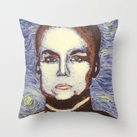 ripley Throw Pillows featuring Ellen Ripley- Alien by Evanne Deatherage