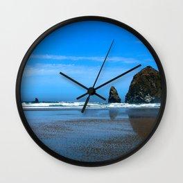 Haystack Rock Cannon Beach Wall Clock