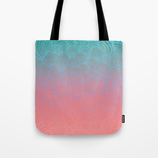 Ombre Clam Shells - Mint, Peach, Purple and Pink Tote Bag