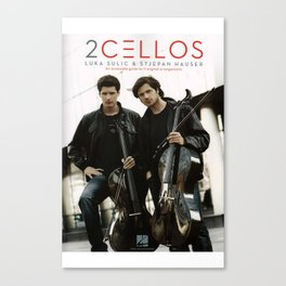 2 CELLOS TOUR WORLD 2018 Canvas Print