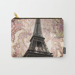 Floral Eiffel Tower in Paris, France Carry-All Pouch