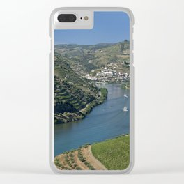 Pinhao village on the Douro, Portugal Clear iPhone Case