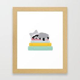 Sleepy Raccoon Framed Art Print