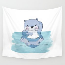 Kick Back Otter Wall Tapestry