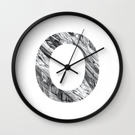 The Letter O- Stone Texture Wall Clock