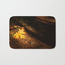 Maple Leaf on the Forest Floor Bath Mat