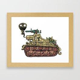 African desert corps tank WWII Framed Art Print