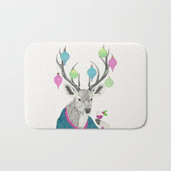 Mr. Deer gets festive  Bath Mat