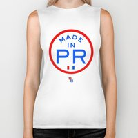 puerto rico Biker Tanks featuring Made in PR - Puerto Rico by DCMBR - December Creative Group