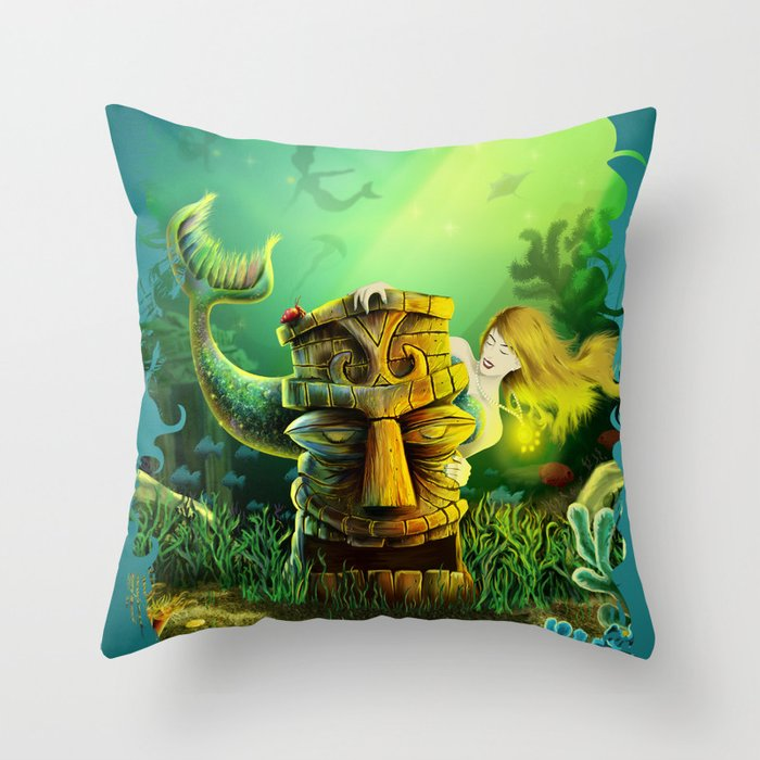Encounter At The Cove Throw Pillow