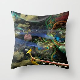 The Bioluminoidal Fractalization Process Throw Pillow