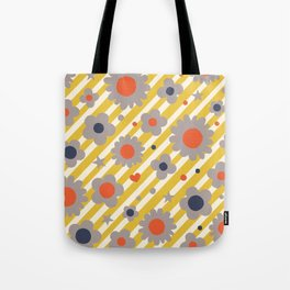 Punk Flower in Primary Tote Bag