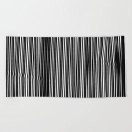 Black Ink | Japanese Atmospheres Beach Towel