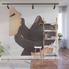 cat : huuh Wall Mural