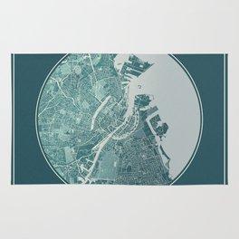Copenhagen Map Planet Rug