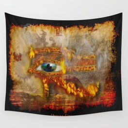 Desert Fire - Eye of Horus Wall Tapestry